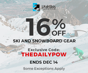 UtahSkis Exclusive Coupon THEDAILYPOW